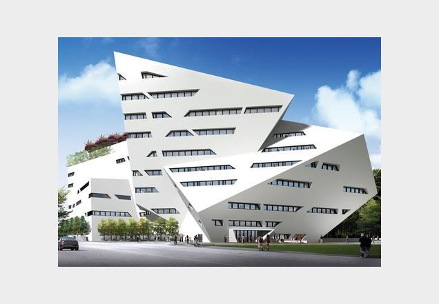 Libeskind's design for the City University of Hong Kong.